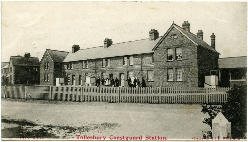 Tollesbury Coastguard Station. Gowers postcard mailed 2 September 1904. 