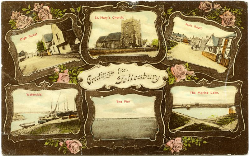 Tollesbury multiview Postcard 17 August 1911. 
