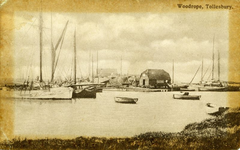 Woodrope, Tollesbury. Postcard by Gowers Ltd., Maldon, mailed 1914-18 to G.W. Osborne, RNAS, Cranwell, Lincs 