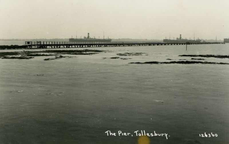The Pier, Tollesbury. Postcard 126360, not mailed.