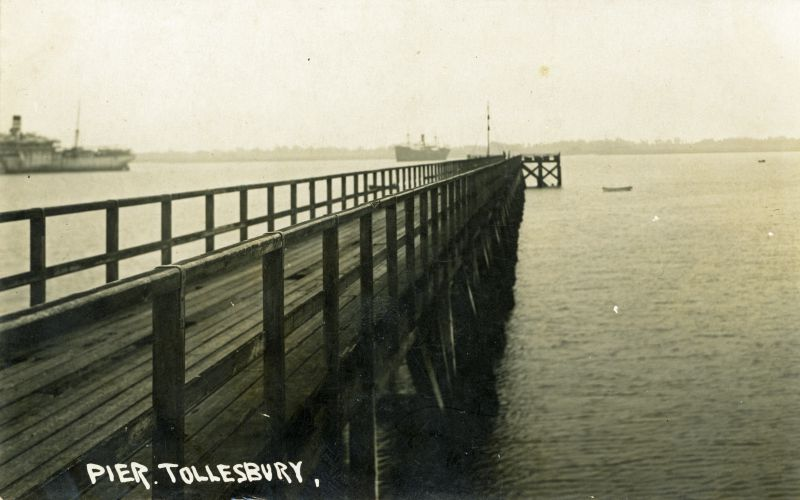 The Pier, Tollesbury. Postcard unmailed.