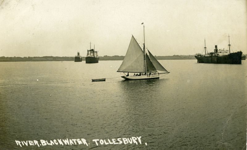 River Blackwater, Tollesbury. Postcard mailed 15 September 1931