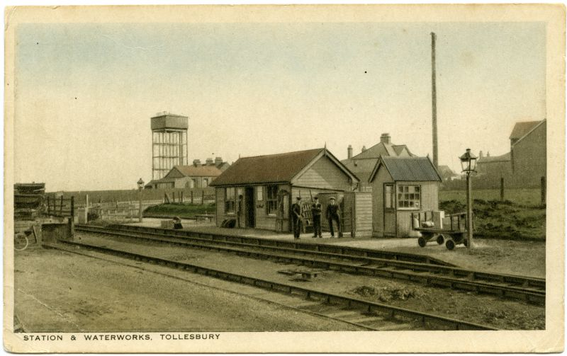 Station and waterworks, Tollesbury. Postcard by H.S. White, High Street, Tollesbury, not mailed.