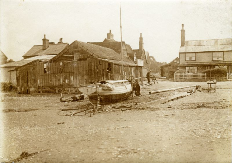 Wyatt's Shed, and the old Victory pub. Thought to be 1920s. 