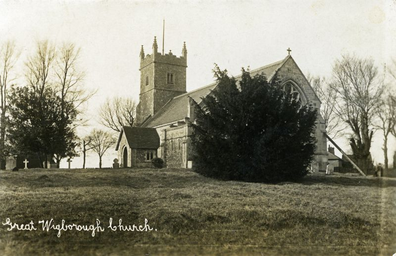 Great Wigborough Church. Postcard by Hammond, Photo-Artist, Great Totham. Not posted. 