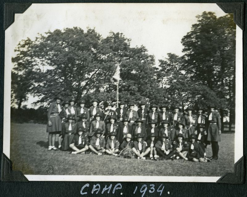 Girl Guides - Camp 1934. 