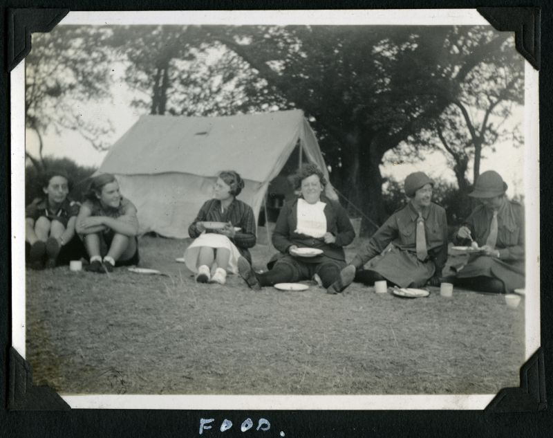 Girl Guides - Camp 1934. Food. 