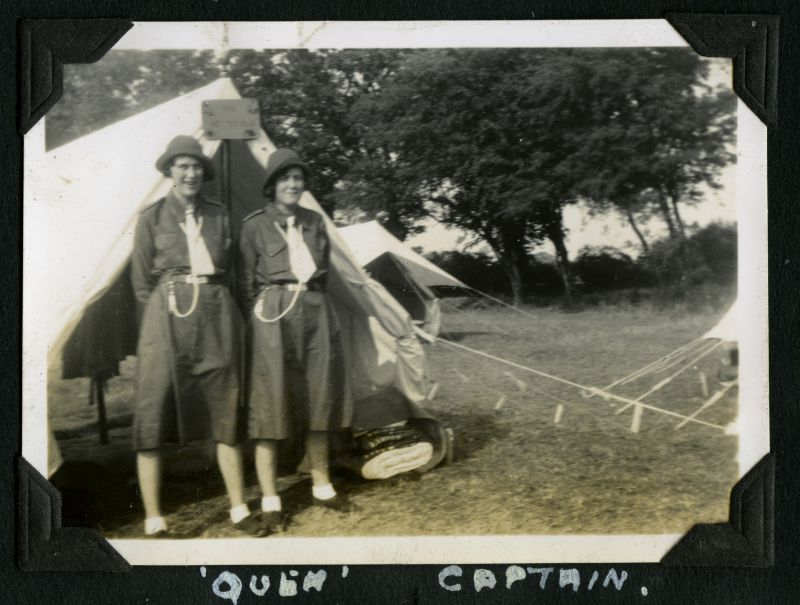 Girl Guides - Camp 1934.Quem, Captain. 