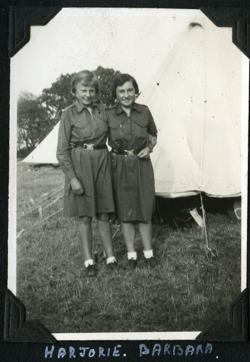 Girl Guides - Camp 1934. Marjorie, Barbara. 