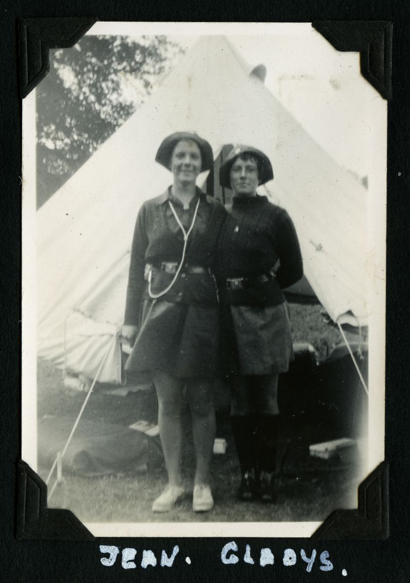 Girl Guides - Camp 1934. Jean, Gladys. 
