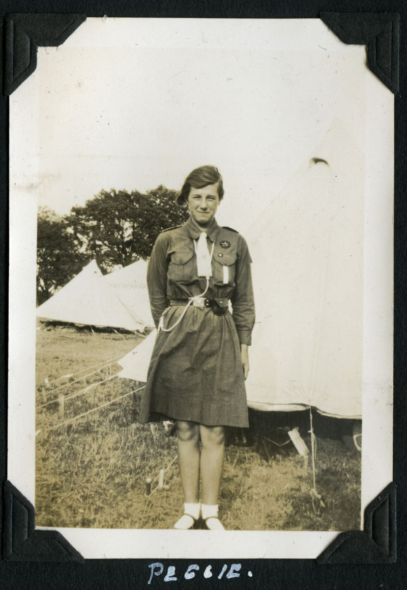 Girl Guides - Camp 1934. Peggie Marriage. 