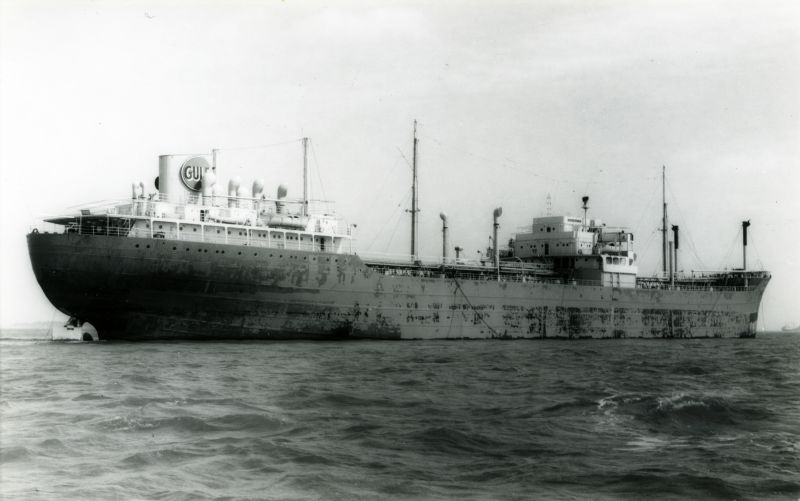 Tanker SUHAIL laid up in River Blackwater. She was in the river 28 June 1960 to 17 December 1963 with a visit to London for dry docking 4-9 November 1962. Date: 16 September 1962.