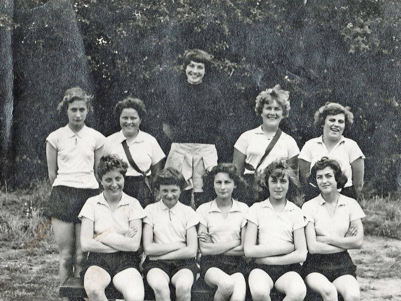 Netball or Rounders team at West Mersea School 1958 - 1959. 