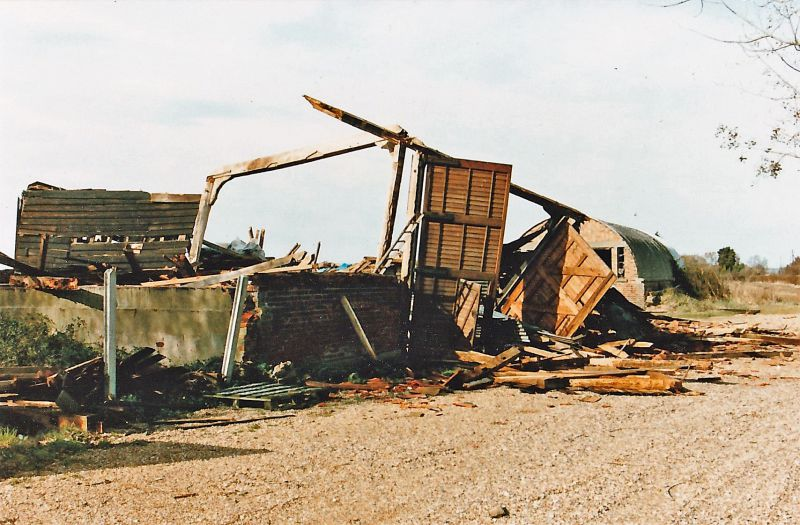 1987 Hurricane - damage at Bonners Barn. 