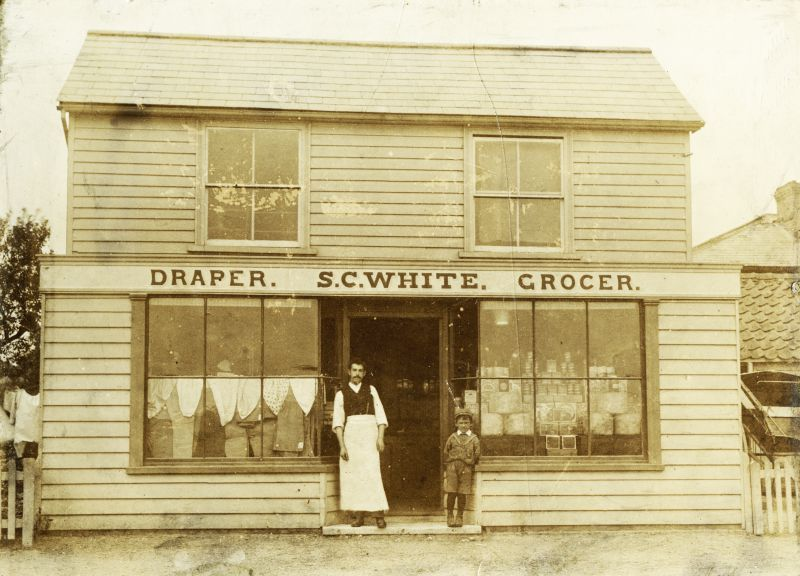 S.C. White, Draper and Grocer's shop. Peldon
