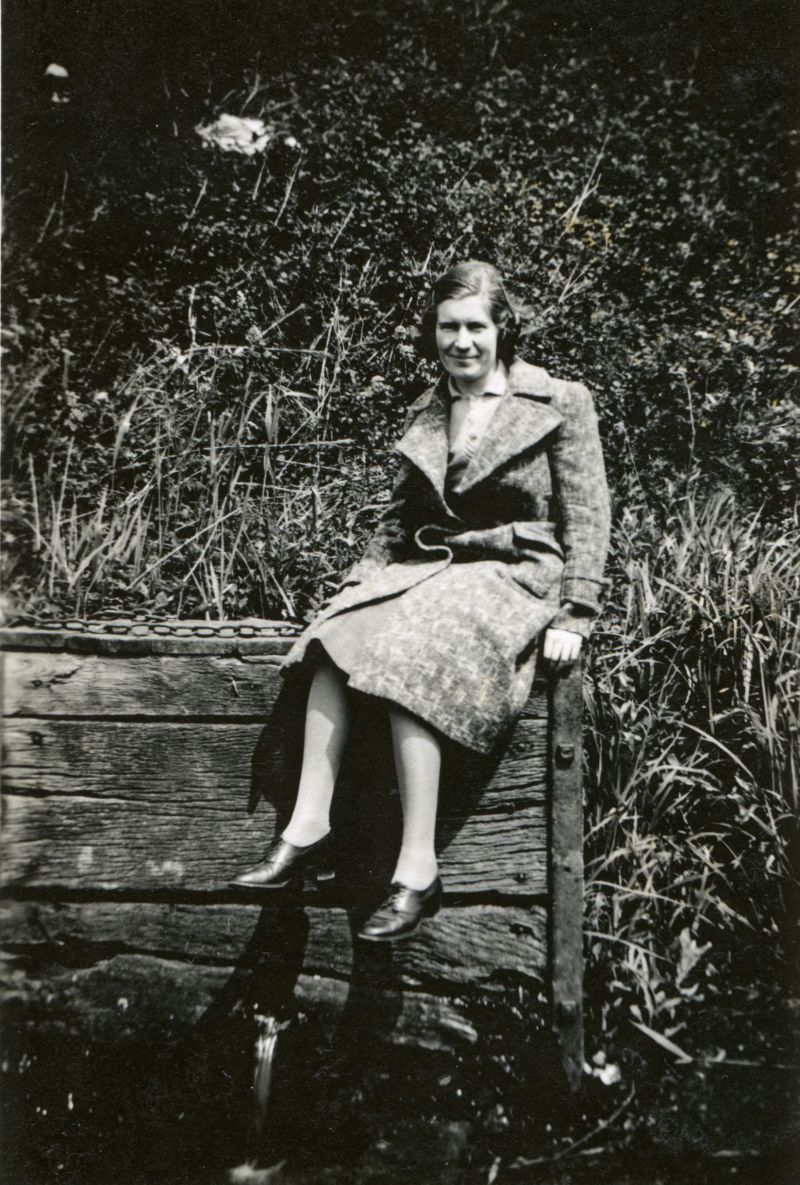 Doris Tucker (Hempstead), taken on the old St Peters Well where all the children gathered water cress and washed their muddy feet [Lorna Tarran]