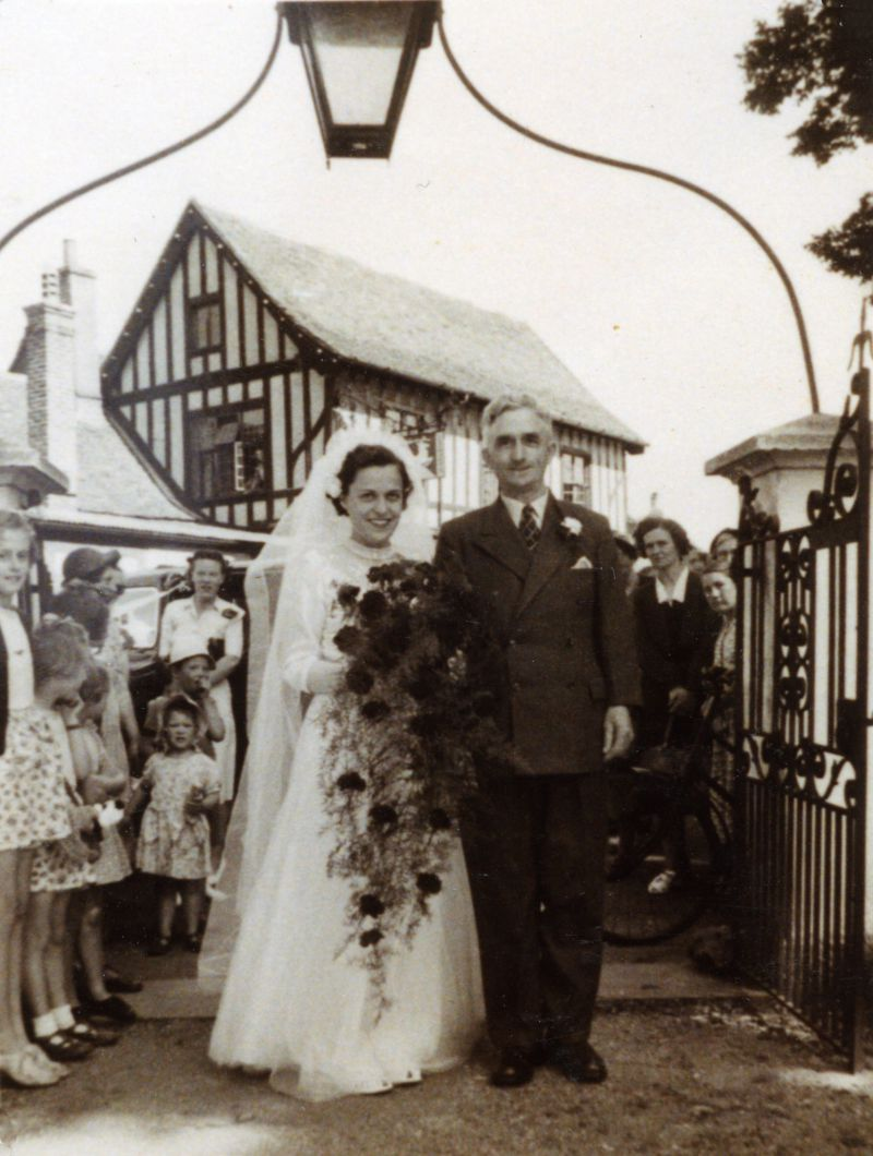 Joan Weeks, Mr Weeks. Lynne Jaggard on the left. 
