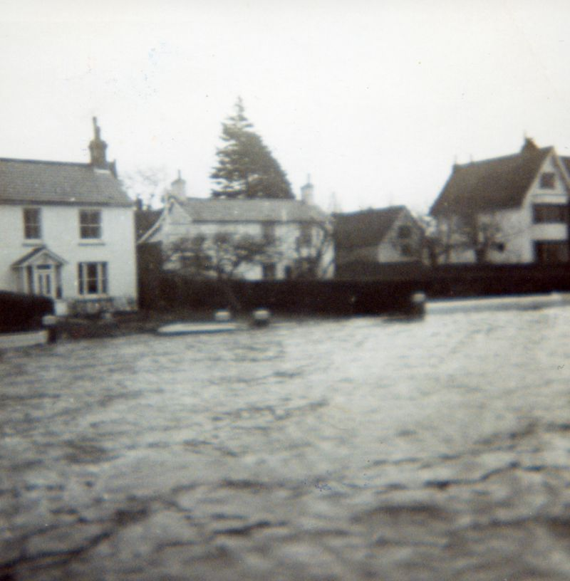 Coast Road and the Yacht Club - after the 1953 Flood
