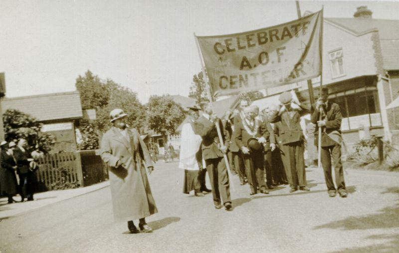 Celebrate AOF Centenary. Ancient Order of Foresters.