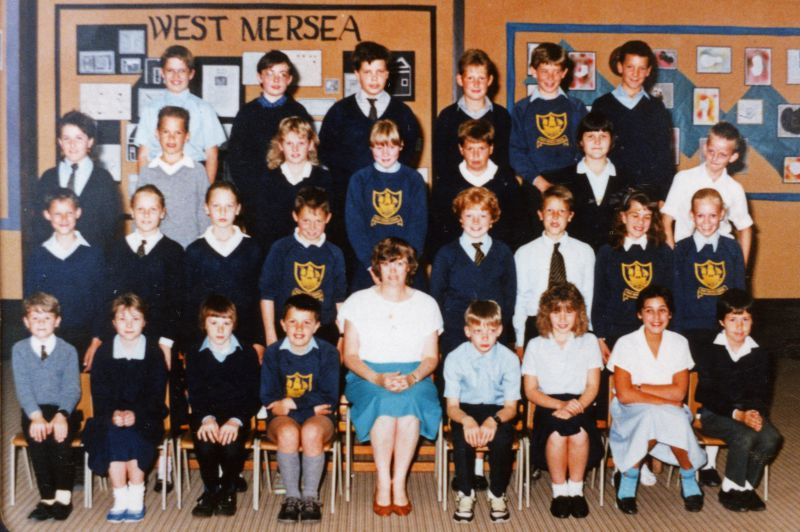 West Mersea School group 1987