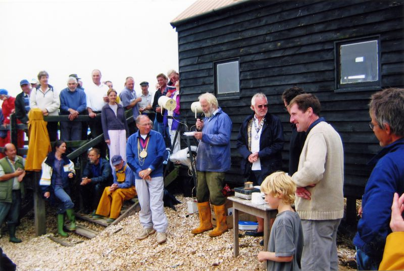 2005 Oyster Dredging Match - weighing and prizegiving at the Packing Shed.