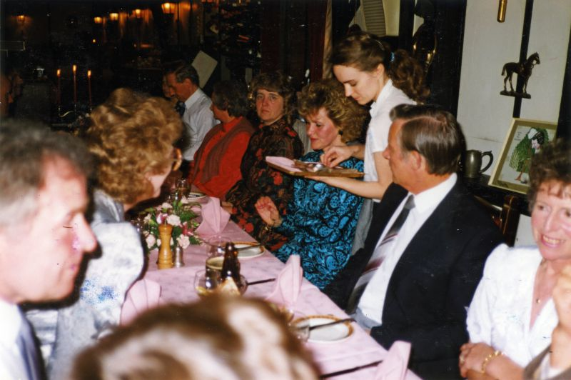 Mersea Island Sea Cadets - dinner at Willow Lodge for organisers of the 1988 Reunion.