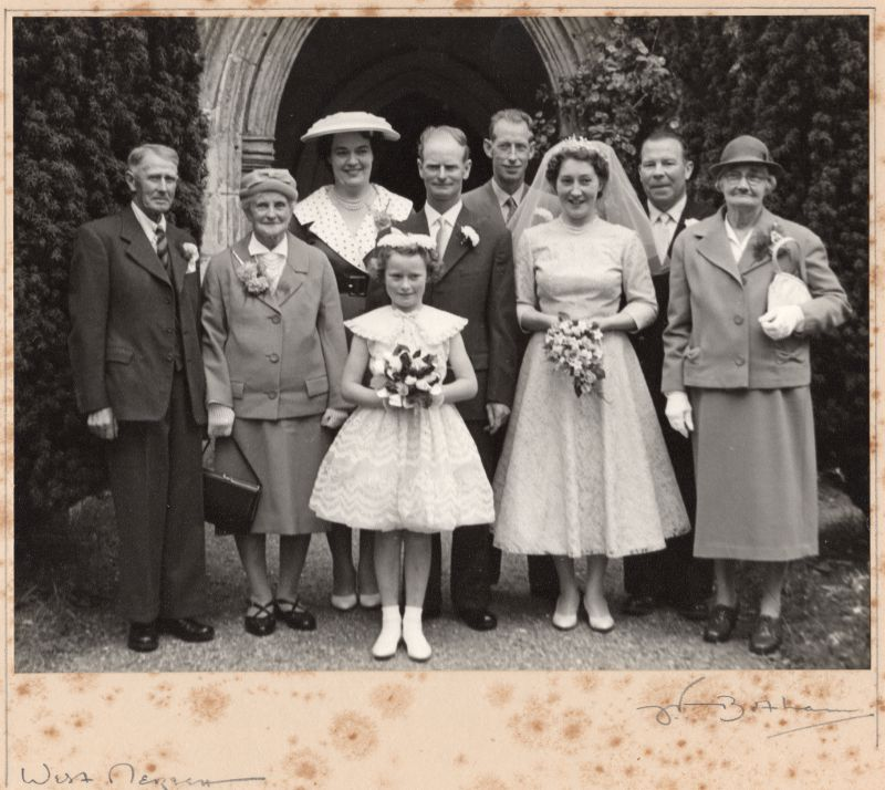 Wedding of George Milgate and Beryl Phillips at West Mersea Parish Church.