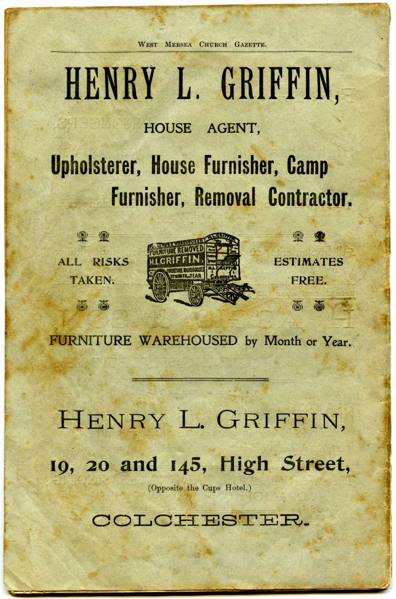 West Mersea Church Gazette back cover.