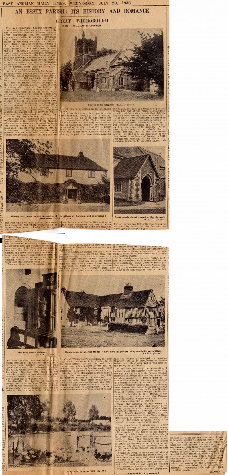 An Essex Parish: Its History and Romance. Great Wigborough.