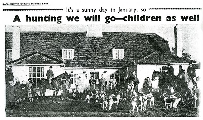 It's a sunny day in January, so