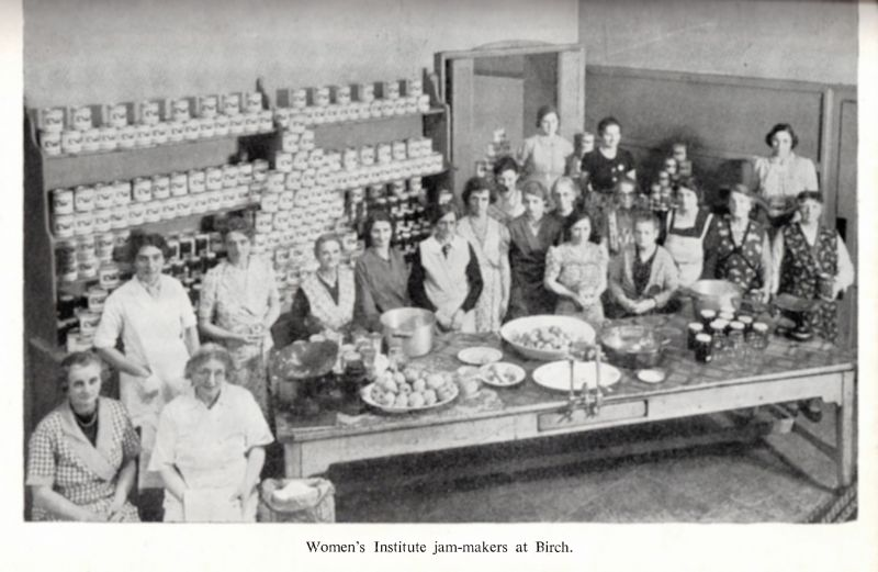 Women's Institute jam-makers at Birch.