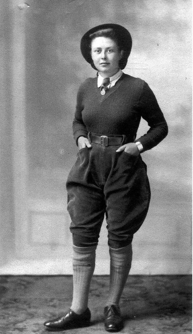 Ruby Tucker née Balls in Women's Land Army uniform. 
