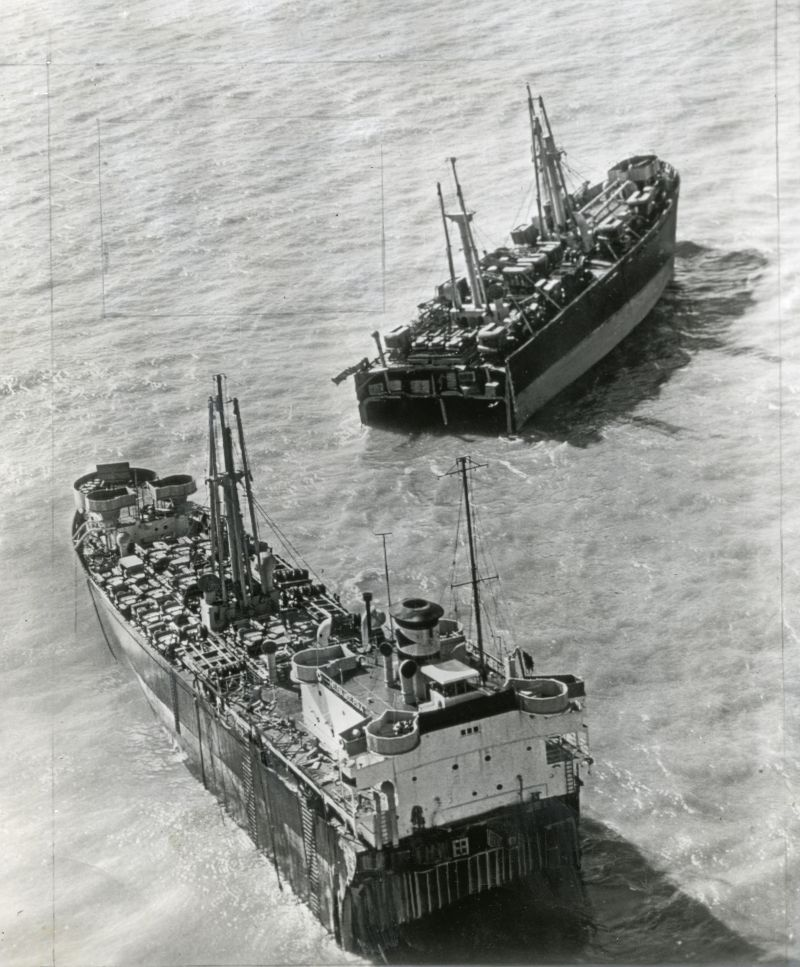 American ship broken in two - aground on the Goodwin Sands in the English Channel, the American ship HELENA MODJESKA lies broken in two after a severe gale lashed the southern coast of England.