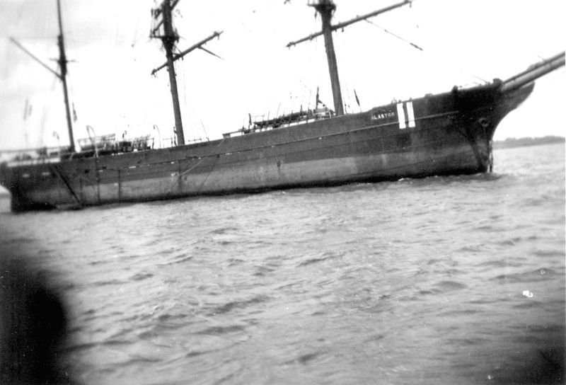 Barque ALASTOR laid up in the river Blackwater.