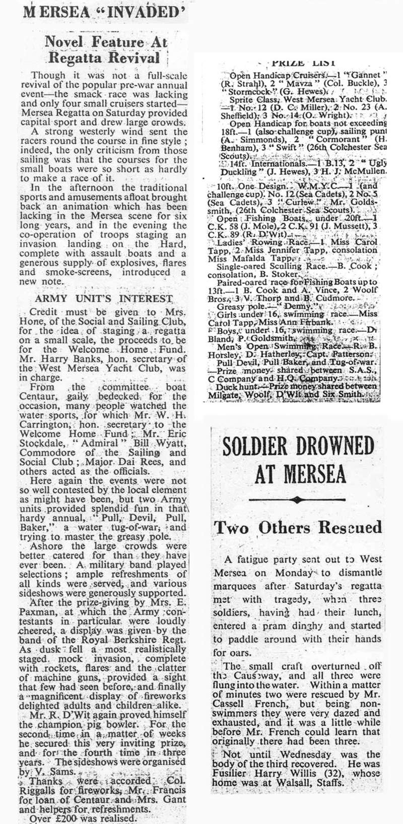 West Mersea Town Regatta 