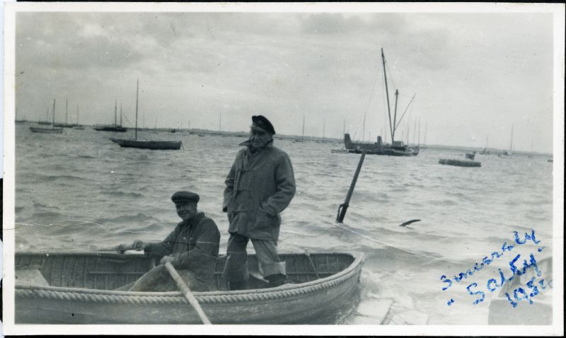 Sincerely, Salty. 1954. Bob South rowing. 