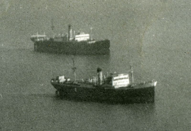 PUNTARENAS and ST GEORGE laid up in River Blackwater. Date: cApril 1958.