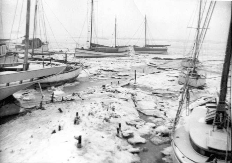 Ice in the hard winter 1962 - 1963. PORT ERROLL, BOADICEA, VERA.