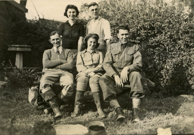 Photograph from Joan Pullen. Sergeant in Royal Army Service Corps front right. 