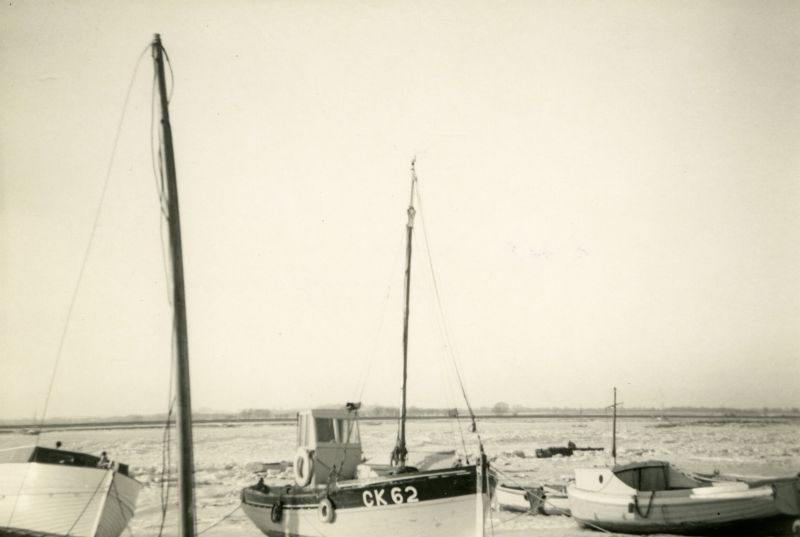 Icy creeks looking across to Feldy. CK62 EVELYN in centre and PEDRO on the right. Photo R.C. Pullen 