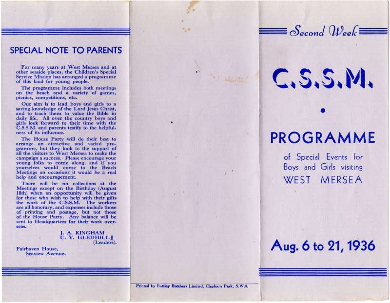 Children's Special Service Mission [Beach Club]
