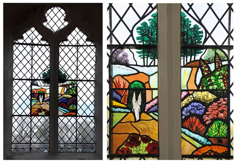 Window in Peldon Church in memory of Peter Miller