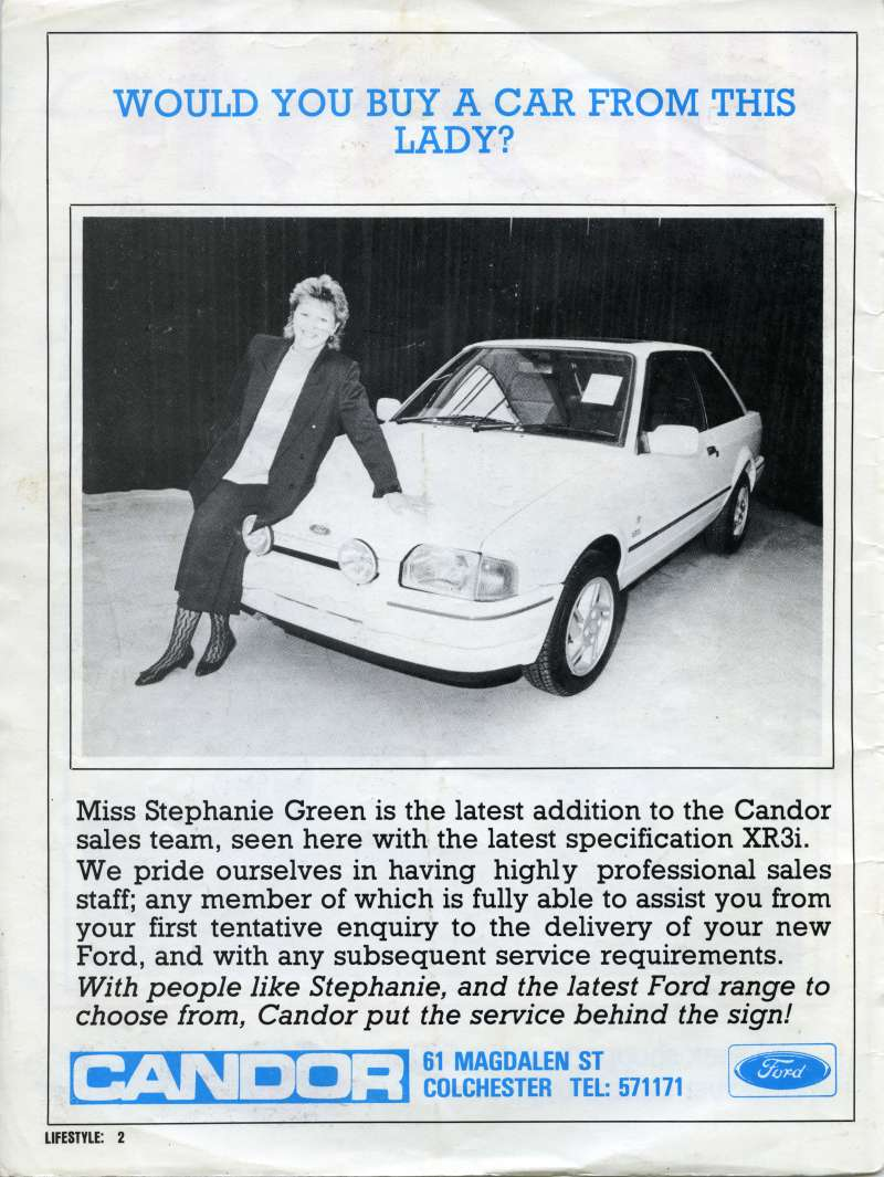 Would you buy a car from this lady ?