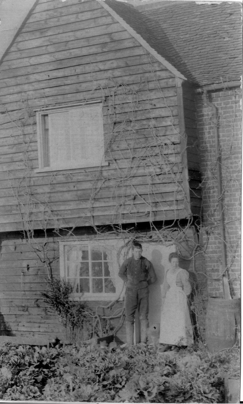 John and Ann Marriage at Weir Farm, East Mersea c1920. 