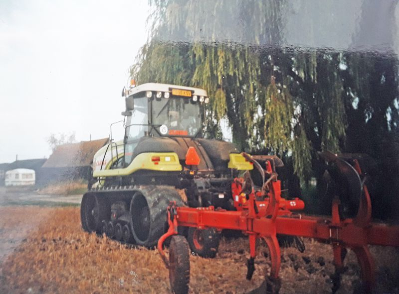 New Hall Farm, Little Wigborough. Claas crawler tractor TB05KGV. 