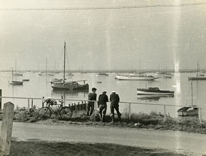 Outlook from Sailing Club, West Mersea, Essex, England. 