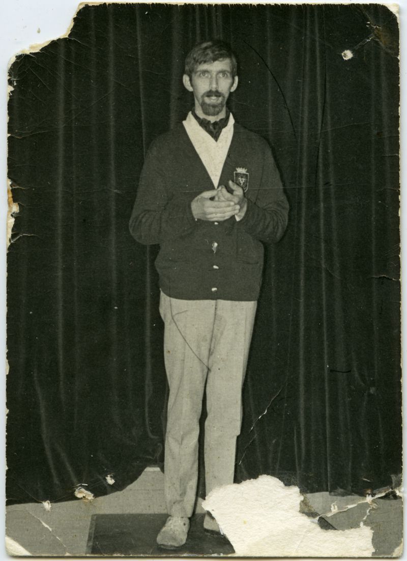 International Youth Camp. Herman Verscuure ?. Good mime artist. Mid 1960s 