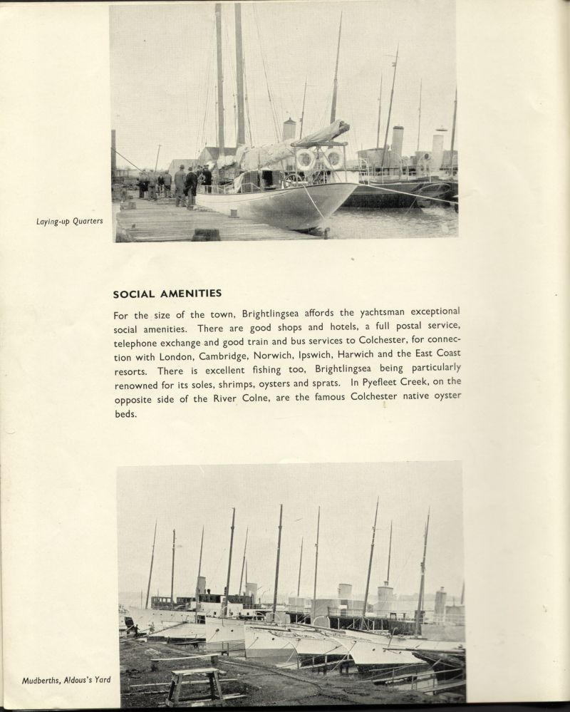 Aldous Successors Ltd catalogue --- page 8. Bottom picture is Mudberths, Aldous's Yard. 