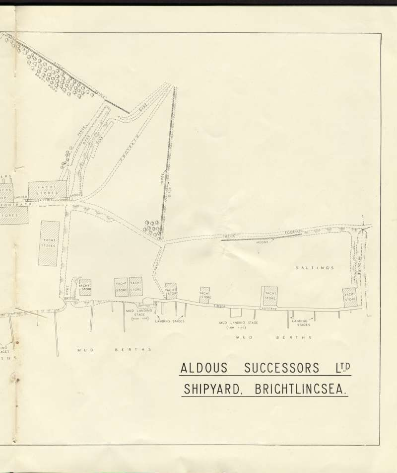 Aldous Successors Ltd catalogue --- page 23. Right hand side of map of shipyard. 