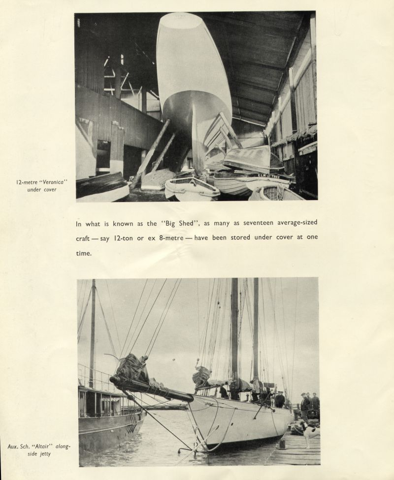 Aldous Successors Ltd catalogue --- page 32. Photos of 12 metre VERONICA and Auxiliary Schooner ALTAIR. 
